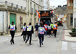 "People run in Arketas on March 26, 2015, Basque Country. The ""19th Korrika"" is a relay of hand to hand baton passing without interruption over 11 days and 10 nights crossing many Basque villages and cities, totalling some 2300 kilometres in a bid to promote the basque language.The ""Korrika"" this year end in Bilbao on March 29. (Ander Gillenea / Bostok Photo)"