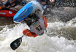 June 6, 2009:  Men's Champion, Stephen Wright, is completely out of the water during an outstanding round in the Men's Freestyle Kayak Finals competition at the Teva Mountain Games, Vail, Colorado.
