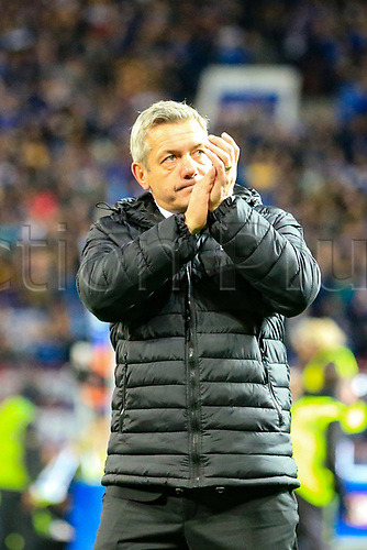 7th October 2017, Old Trafford, Manchester, England; Betfred Super League Grand Final, Castleford Tigers versus Leeds Rhinos; Daryl Powell head coach of Castleford Tigers applauds his fans