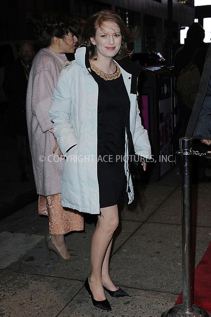 WWW.ACEPIXS.COM <br /> January 6, 2014 New York City<br /> <br /> Sarah Polley attends the 2013 New York Film Critics Circle Awards Ceremony at The Edison Ballroom on January 6, 2014 in New York City. <br /> <br /> <br /> Please byline: Kristin Callahan  <br /> <br /> ACEPIXS.COM<br /> Ace Pictures, Inc<br /> tel: (212) 243 8787 or (646) 769 0430<br /> e-mail: info@acepixs.com<br /> web: http://www.acepixs.com