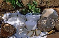 Europe/France/Corse/2A/Corse-du-Sud/Pratavonu/Env de Pila Canale: Broccio frais, broccio affiné et tomme de brebis, cuscio chez Mr et Mme Cianfarani