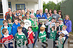 The large who turned out to see the Grand Slam, Triple Crown and Magners League trophies at Tralee rugby club on Thursday