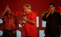 PA - CONVENCAO/PMDB/LULA - POLITICA - ATENCAO, EDITOR: FOTO EMBARGADA PARA VEICULOS DO ESTADO DO PARA. O ex-presidente Luiz Inácio Lula da Silva , senador Jader Barbalho e seu Filho Helder Barbalho Candidato Governador Para participam de convenção do PMDB do Para, em Belem, nesta segunda- feira.<br />  <br /> Foto: TARSO SARRAF