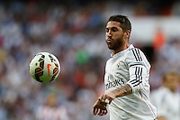 13.09.2014 SPAIN -  La Liga 14/15 Matchday 03th  match played between Real Madrid CF vs Atletico de Madrid Bernabeu stadium. The picture show Sergio Ramos (Spanish defender of Real Madrid)