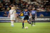CARSON, CA - SEPTEMBER 21: Shamit Shome #28 of the Montreal Impact moving with the ball during a game between Montreal Impact and Los Angeles Galaxy at Dignity Health Sports Park on September 21, 2019 in Carson, California.
