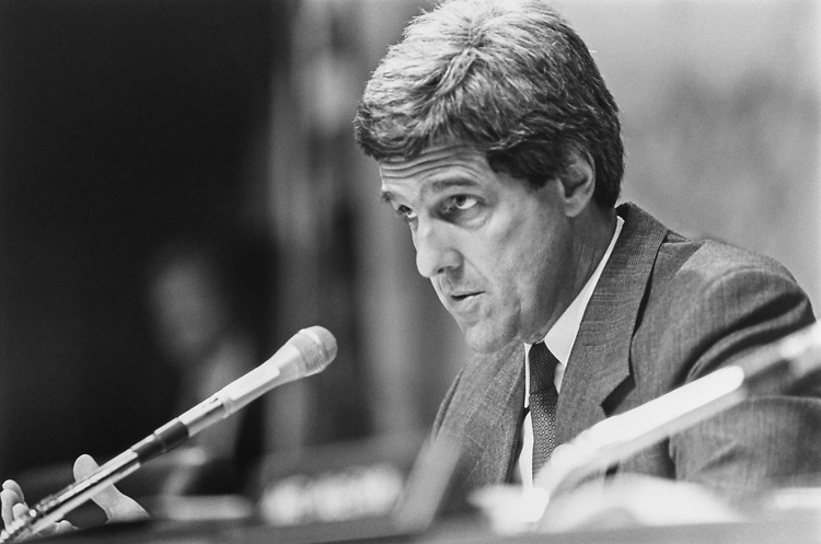 Sen. John Kerry, D-Mass. 1992 (Photo by Laura Patterson/CQ Roll Call via Getty Images)