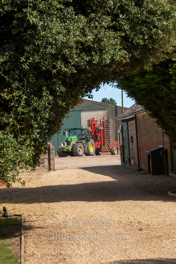 Tractor in yard - Lincolnshire; September