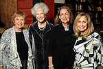 "From left: Rose Rosenthal, Edith Mincberg, Pepi Joskowitz Nichols and Sandy Lessig at the opening reception: ""The Wartime Escape:  Margret and H.A. Rey's Journey from France"" at the Holocaust Museum Houston Thursday Nov. 07,2013.  (Dave Rossman photo)"