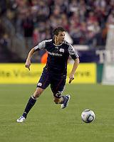 New England Revolution midfielder Marko Perovic (29). In a Major League Soccer (MLS) match, Real Salt Lake defeated the New England Revolution, 2-0, at Gillette Stadium on April 9, 2011.