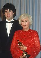 John Travolta Barbara Stanwyck 1982<br /> Photo By John Barrett/PHOTOlink.net / MediaPunch