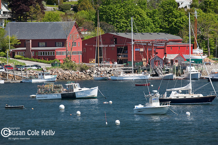 The waterfront of Rockport, ME, USA