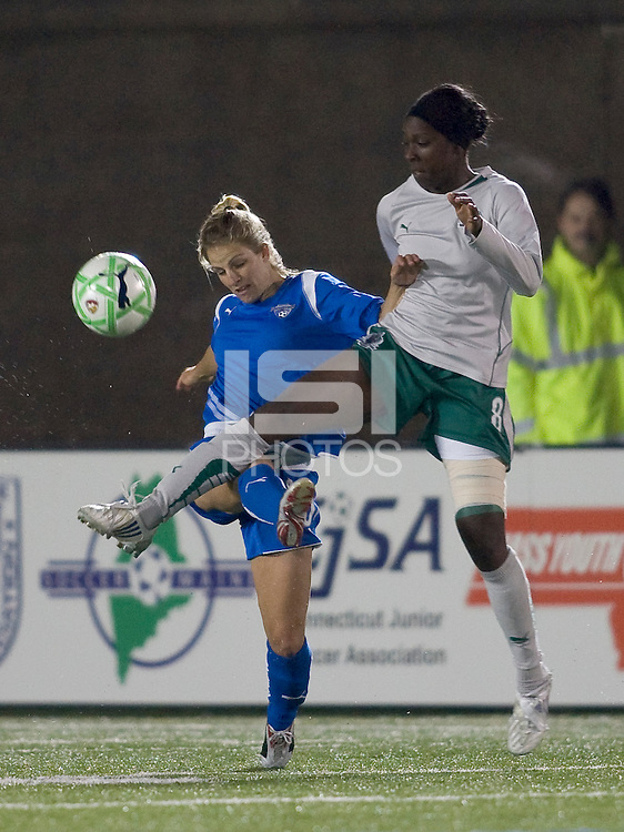 The Boston Breakers defeated Saint Louis Athletica, 2-0, at Harvard Stadium on April 11, 2009.