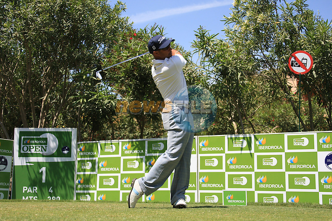 Ariel Canete (ARG) teeing off on the 1st.on day three of the Iberdrola Open from Pula Golf Club ,Son Servera, Mallorca, Spain 14/5/11.Picture Fran Caffrey/www.golffile.ie