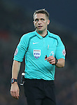 Referee Craig Pawson during the English Premier League match at the Bet 365 Stadium, Stoke on Trent. Picture date: December 17th, 2016. Pic Simon Bellis/Sportimage