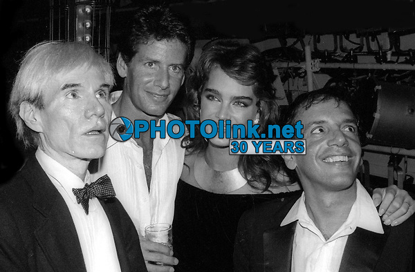 #Andy Warhol Calvin Klein Brooke Shields Steve Rubell at Studio 54 1981<br /> Photo By Adam Scull/PHOTOlink.net