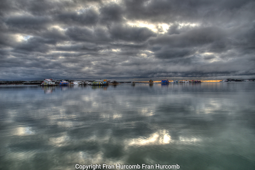 September afternoon overlooking Back Bay Yellowknife Calm October Afternoon on Yellowknife Bay