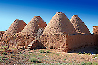 "Pictures of the beehive adobe buildings of Harran, south west Anatolia, Turkey.  Harran was a major ancient city in Upper Mesopotamia whose site is near the modern village of Altınbaşak, Turkey, 24 miles (44 kilometers) southeast of Şanlıurfa. The location is in a district of Şanlıurfa Province that is also named ""Harran"". Harran is famous for its traditional 'beehive' adobe houses, constructed entirely without wood. The design of these makes them cool inside. 9"