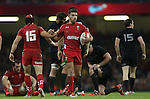 Wales pair Leigh Halfpenny and Dan Biggar give one another a pat on the back.<br /> Dove men Series 2014<br /> Wales v New Zealand<br /> 22.11.14<br /> &copy;Steve Pope -SPORTINGWALES