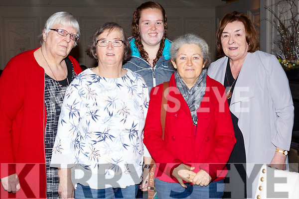 Enjoying the coffee morning in aid of the Hope Foundation in the Meadowland Hotel on Saturday morning, l-r, Eileen Rivington, Mary O'Connell, Orla O'Connell, Lola Scollard and Mary O'Regan.