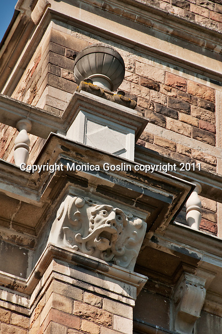 A gargoyle on the Nordiska Museet, the museum of Swedish trends and traditions in Stockholm, Sweden