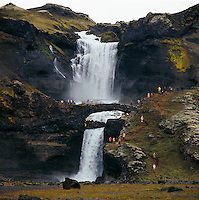 &Oacute;f&aelig;rufossar &iacute; Eldgj&aacute;, 1972.<br />