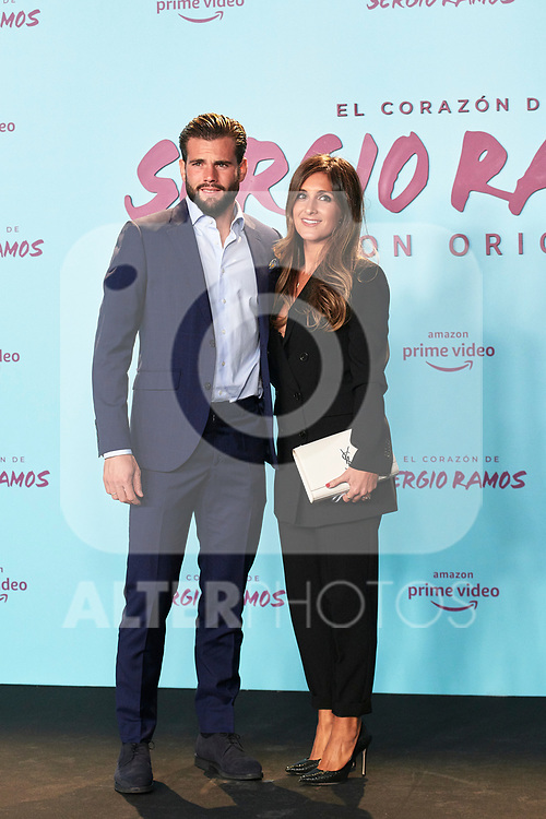 Nacho Fernandez and Maria Cortes in the world preview of EL CORAZÓN DE SERGIO RAMOS, documentary series about the life of the captain of Real Madrid and the Spanish Soccer Team, at the Reina Sofía Museum on September 10, 2019 in Madrid, Spain.<br />  (ALTERPHOTOS/Yurena Paniagua)