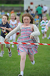 Megan Tuite winning the girls under 8 race at O'Raghallaigh's fun day. Photo: Colin Bell/pressphotos.ie
