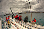 "I have been kindly invited by Jean Luc Esplaas onboard his Archambault 40 ""41 Sud Electropac"" for the 320 nautical miles bi-annual classic ""Beneteau Lagoon Cup Noumea (New Caledonia) Port Vila (Vanuatu) Race 2009"" for the local it's simply called the Port Vila race..It was perfect bare foot sailing conditions with a 28 degrees Celsius water temperature, a reasonably smooth and without hiccups reach tack in a 25 knots trade wind and a magnificent full moon for the ambiance exactly as advertised with a very close finish to get all the ingredients in the same basket. .First a multihull ""McMoggy"" skipper Denis Planchon arrived on Sunday night after a 34h and 38 mins race, the first monohull a Dufour 44 ""internautic 6"" skipper Thierry Causer arrived on Monday early morning after a 41h and 3 mins race followed by a trio in a pure dawn match racing in the Efate Bay in Port Vila Vanuatu, an Archambault 40 ""Lagoon Ozone"" skipper Olivier Decouzon in 42 h 52 mins followed by an our dearest Archambault 40 ""41 Sud Electropac"" skipper Jean-Luc Esplaas in 42 h 54 mins and 4 s and a Young Eleven ""Radical Concept"" skipper Philippe Mazard in 42 h 54 mins and 50 s...I told you it was a close finish after 320 nautical miles. .All results can be found on: http://cnc.navitrac.fr/stat.php.23 yachts participated in this year's event. Jean Luc Esplaas and his Archambault 40 ""41 Sud Electropac"" did this race in preparation for the upcoming 65th Rolex Sydney Hobart Yacht Race..Vanuatu, formerly the Anglo-French condominium of the New Hebrides is largely an untouched paradise in the South Pacific. Port Vila is the seat of government and the main business centre of the island group. ."