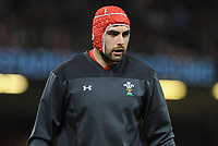 Wales Cory Hill during the pre match warm up<br /> <br /> Photographer Ian Cook/CameraSport<br /> <br /> 2018 NatWest Six Nations Championship - Wales v Italy - Sunday 11th March 2018 - Principality Stadium - Cardiff<br /> <br /> World Copyright &copy; 2018 CameraSport. All rights reserved. 43 Linden Ave. Countesthorpe. Leicester. England. LE8 5PG - Tel: +44 (0) 116 277 4147 - admin@camerasport.com - www.camerasport.com