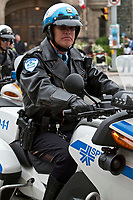 SPVM Montreal Police motorcycle is seen during a police memorial parade in Ottawa Sunday September 26, 2010.