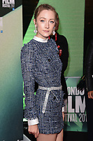 Saoirse Ronan<br /> arriving for the London Film Festival 2017 screening of &quot;On Chesil Beach&quot; at the Embankment Garden Cinema, London<br /> <br /> <br /> &copy;Ash Knotek  D3324  08/10/2017