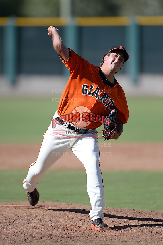 San Francisco Giants pitcher Derek Law (67) during an instructional league game against the Arizona Diamondbacks on October 3, 2013 at Giants Baseball Complex in Scottsdale, Arizona.  (Mike Janes/Four Seam Images)
