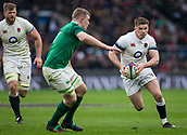 17th March 2018, Twickenham, London, England; NatWest Six Nations rugby, England versus Ireland; Owen Farrell of England runs with the ball