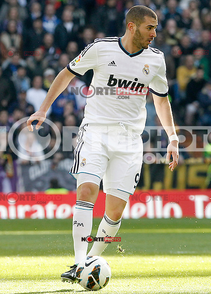 Real Madrid's Karim Benzema during La Liga match.March 02,2013. (ALTERPHOTOS/Acero) /NortePhoto
