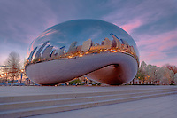 Cloud Gate Chicago. Anish Kapoor's 110 ton chrome sculpture in Millennium Park.