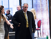 Nucor CEO Dan Dimacco, trade advisor to President-elect Donald Trump, is seen in the lobby of Trump Tower in New York, NY, USA upon his arrival on December 15, 2016. <br /> Credit: Albin Lohr-Jones / Pool via CNP