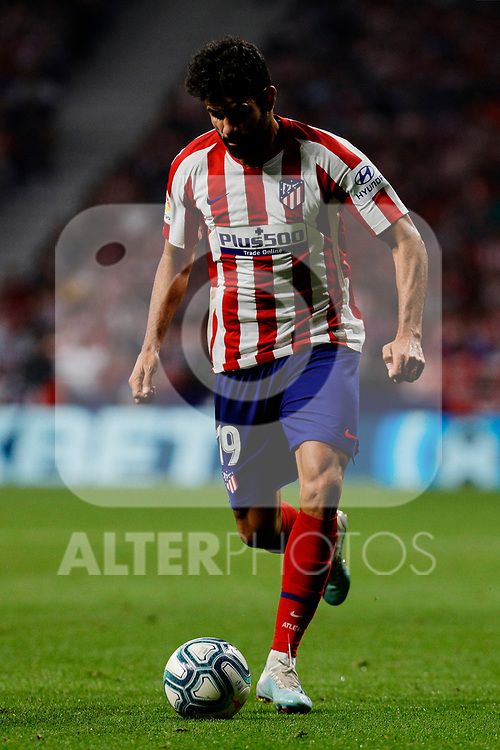 Diego Costa of Atletico de Madrid during La Liga match between Atletico de Madrid and Real Madrid at Wanda Metropolitano Stadium{ in Madrid, Spain. {iptcmonthname} 28, 2019. (ALTERPHOTOS/A. Perez Meca)