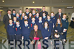 Boys and Girls from St Olivers National School, Killarney, who were confirmed by Bishop Bill Murphy in The Church of the Resurrection, Killarney, on Friday, with their teacher Mr Gleeson, Principal Mr. Darcy and Deputy Principal Mr Horgan..