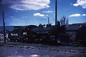 3/4 engineer's-side view of D&amp;RGW #484 at Durango.<br /> D&amp;RGW  Durango, CO