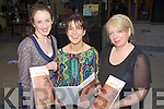 MENU: Debra Meehan, Aine Murphy and Catherine Hanafin of A?ine's Restaurant the Square Tralee who launched her new menu including on the menu is Gluten Free choices.................................. ....