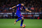 7th January 2018, Camp Nou, Barcelona, Spain; La Liga football, Barcelona versus Levante; Luis Suarez of FC Barcelona with a shot on goal late in the game