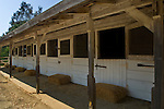 Stables at the Leo Carillo Ranch Historic Park, near Carlsbad, San Diego County, California