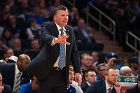 NEW YORK, NY - Thursday March 9, 2017: Creighton Head Coach Greg McDermott  directs his team against Providence as the two schools square off in the Quarterfinals of the Big East Tournament at Madison Square Garden.