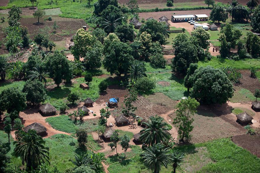 28 may 2010 - Western Equatoria, South Sudan - Aerial view of Maridi, South Sudan. Photo credit: Benedicte Desrus