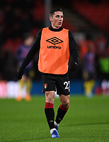 27th January 2020; Vitality Stadium, Bournemouth, Dorset, England; English FA Cup Football, Bournemouth Athletic versus Arsenal; Harry Wilson of Bournemouth warms up