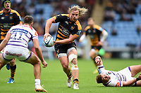 Tommy Taylor of Wasps looks to pass the ball. Gallagher Premiership match, between Wasps and Leicester Tigers on September 16, 2018 at the Ricoh Arena in Coventry, England. Photo by: Patrick Khachfe / JMP