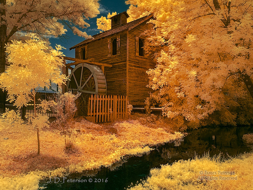 Water Wheel, Cannonsburgh Village, Tennessee (Infrared)