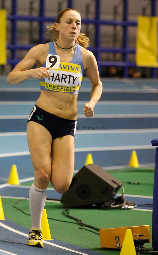 Photo: Richard Lane/Richard Lane Photography. Aviva World Trials & UK Championships. 13/02/2010. Kerry Harty in the women's 3000m.