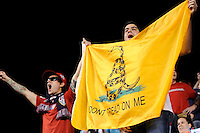 Fans. The men's national teams of the United States (USA) and Colombia (COL) played to a 0-0 tie during an international friendly at PPL Park in Chester, PA, on October 12, 2010.