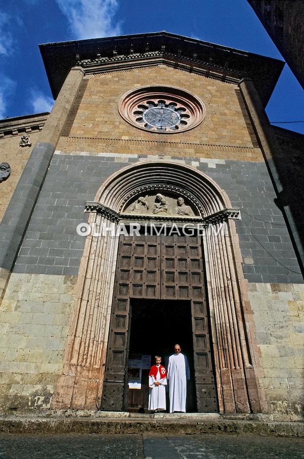 Fachada de igreja em Orvieto, Umbria. Itália 2002. Foto de Vinicius Romanini.